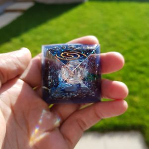Blue Agate (Throat Chakra) Orgone Pyramid