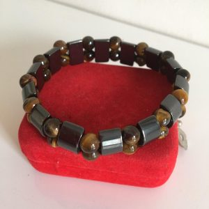 Hematite Tigers Eye Magnetic Bracelet