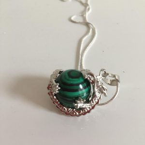 Malachite Dragon Necklace