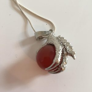 Carnelian Dragon Claw Necklace