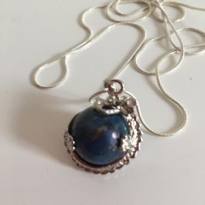Blue Agate Dragon Necklace