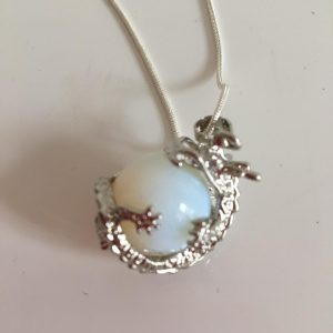 Opalite Crystal Dragon Necklace