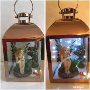 Copper Effect Fairy Lantern