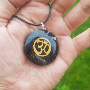 OM Black Tourmaline Orgone Protection Pendant