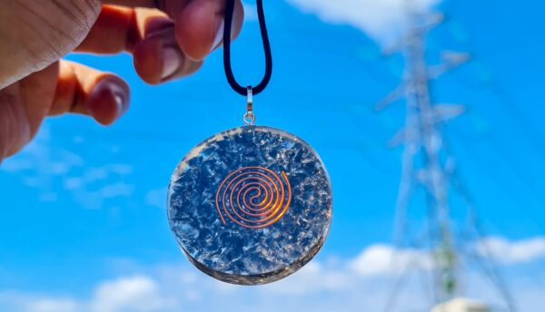 Obsidian Negative Energy Protection Orgone Necklace